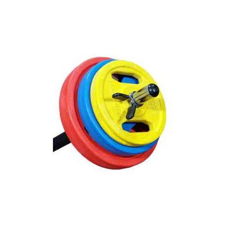 kit  Body Pump: Barra + discos + pinzas (28 mm) Aema Sport