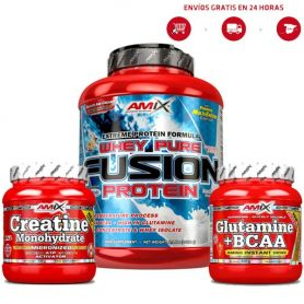 Pack Fusion + Creatina + Gluta-bcaa´s