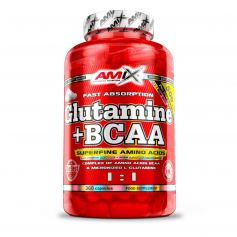 Glutamine + Bcaa´s 360 capsulas