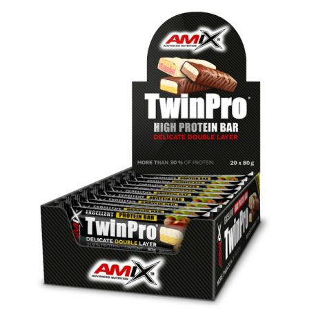 TWIN PRO PROTEIN BAR 20 x 80 gr