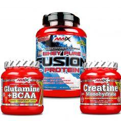 Pack Fusion 1Kg + Creatina 300gr + Gluta-bcaa´s 300gr