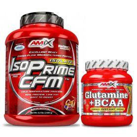 Pack Amix IsoPrime CFM 2 kg + Glutamina-bcaa´s 300 gr